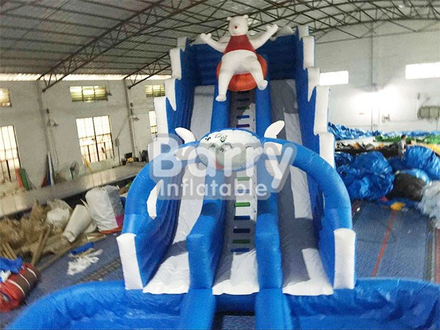 Inflatable Water Slide With Pool Custom Size Bear Blue Clearance Slides By Ws 065 Guangzhou Barry Co Ltd