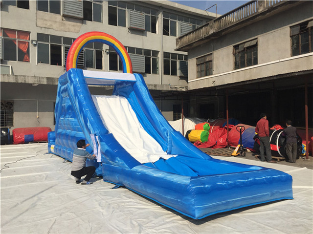 Inflatable Water Slide - water slide with pool - Commercial