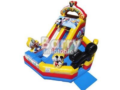Cheap Commercial Kids Mickey Mouse Big Inflatable Water Slides For Sale BY-WS-008
