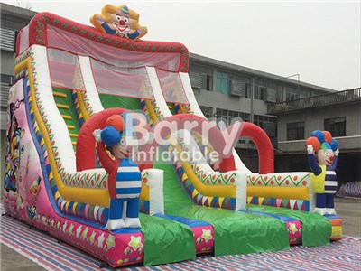 Cheap Price Beautiful Cartoon Clown Inflatable Slides For Sale BY-DS-001