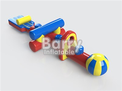 Inflatable Aqua Toys Challenge Run, Small Water Obstacle Course With Low Price BY-AR-013