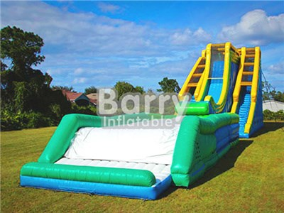 Commercial Giant Drop Kick Slide , Inflatable Roller Coaster Slide N Drop Kick BY-GS-013