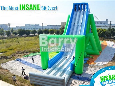 Guangzhou Barry Factory Inflatable 5k Slingshot , Giant Slide For Sale  BY-GS-022