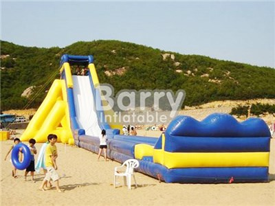 Yellow Inflatable Giant Water Slide For Sale