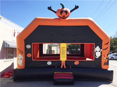 Customized halloween festival inflatable bounce pumpkin