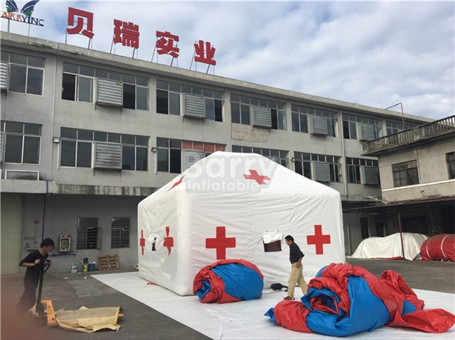 Customized Large Inflatable Medical Tent / Rescue Tent For Army Emergency BY-IT-054