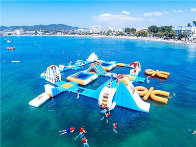 Giant Adult Giant Blue inflatable sport park For Wake Island ,Water sports equipment For Ocean BY-IWP-007