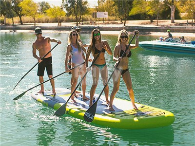 Explorer Stand Up Paddle Board iSUP Package | Includes Adjustable Travel Paddle with Carrying Bag BY-PD-030